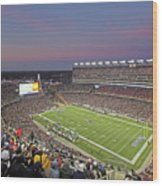 Gillette Stadium And New England Patriots Wood Print