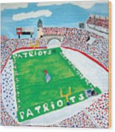 Gillette Stadium Wood Print