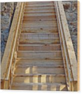 Gilpin County Museum Stairs Wood Print