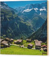 Gimmelwald In Swiss Alps - Switzerland Wood Print