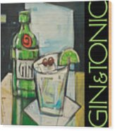 Gin And Tonic Poster Wood Print