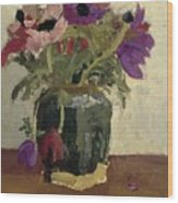 Ginger Pot With Anemones, George Hendrik Breitner, Ca. 1900 - Ca. 1923 Wood Print