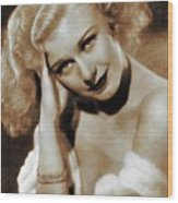 Ginger Rogers, Actress Wood Print
