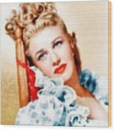 Ginger Rogers By John Springfield Wood Print