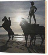 Horseback Riding Wood Print
