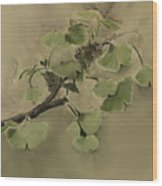 Gingko Branch Wood Print