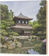 Ginkakuji Temple Wood Print by Rob Tilley