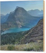 Ginnell Glacier Lake Wood Print
