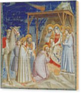 Giotto: Adoration Wood Print by Granger