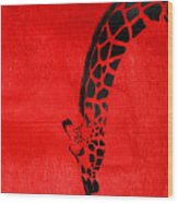Giraffe Animal Decorative Red Wall Poster 3 - By  Diana Van Wood Print