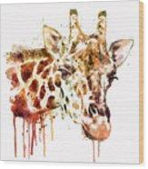 Giraffe Head Wood Print