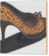 Giraffe Heels Wood Print