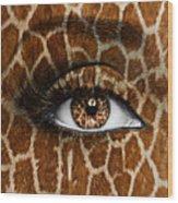 Giraffe Wood Print by Yosi Cupano