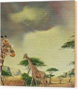 Giraffes At Thabazimba Wood Print