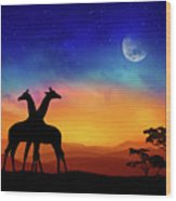 Giraffes Can Dance Wood Print