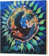 Girasol De La Noche Wood Print