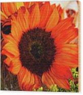Girasol Naranja Wood Print