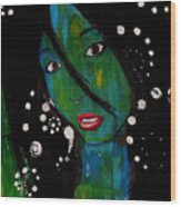 Girl 8 Wood Print
