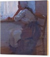 Girl At The Window 1885 Wood Print
