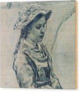 Girl Hell 1882 Ilya Repin Wood Print