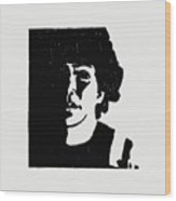 Girl In Shadow Wood Print