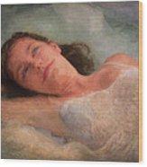 Girl In The Pool 8 Wood Print