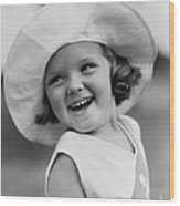 Girl In Wide Brimmed Hat, C.1930s Wood Print