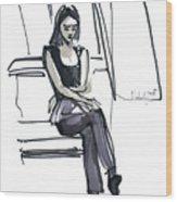 Girl Near The Window Wood Print