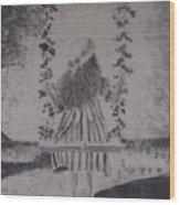 Girl On A Swing Wood Print