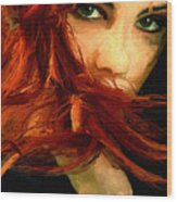 Girl Portrait 08 Wood Print by James Shepherd