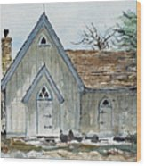 Girl Scout Little House Wood Print