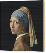 Girl With A Pearl Earring Wood Print by Jan Vermeer
