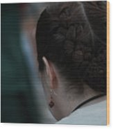 Girl With Braided Hair Wood Print