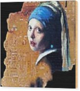 Girl With Capicitor Wood Print