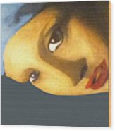 Girl With The Pearl Earring Side Wood Print