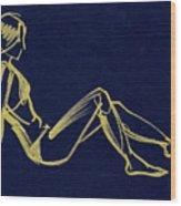Girlsketch Wood Print