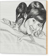 Gita Gutawa Young Singer From Indonesia Wood Print