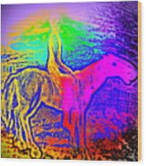 Life Is So Colorful When You Give Me A Ride  Wood Print