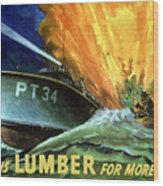 Give Us Lumber For More Pt's Wood Print