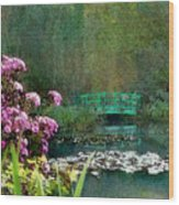 Giverny Bridge Wood Print
