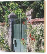 Giverny Gate Wood Print