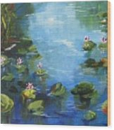 Giverny Lily Pond Wood Print
