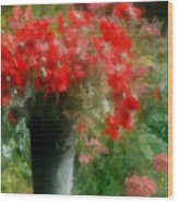 Giverny Poppies Wood Print