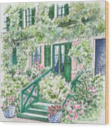 Giverny Welcome Wood Print