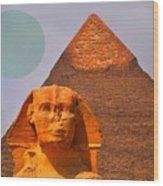 Giza Sphinx 2 Wood Print