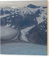 Glacial Curves Wood Print by Mike Reid