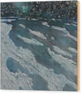 Glacial Moraine Wood Print