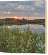 Glacial Park Sunrise On The Nippersink Wood Print