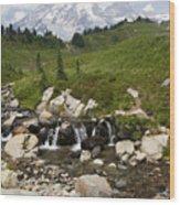 Glacial Runoff Wood Print