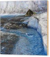 Glacial Stream Wood Print